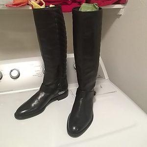 Stuart  Weitzman Black raceway boots